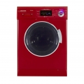 Hot New Washer and Dryer Combo Deals $1,259.00 All-in-one 1200 RPM New Version Compact Convertible Combo Washer Dryer with Fully Digital Easy to use Control Panel in Merlot