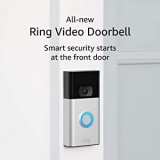 Hot New Home Security Deals $79.99 All-new Ring Video Doorbell – 1080p HD video, improved motion detection, easy installation – Satin Nickel (2nd Gen)