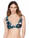 Hot New Plus Size Swimwear $8.04, Amazon Brand – Coastal Blue Women's Swimwear Ruffle Neck and Shoulder Triangle Bikini Top,