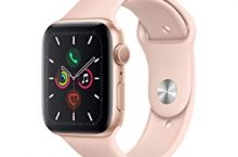 Hot New Apple Watch Deals $409.00 Apple Watch Series 5 (GPS, 44mm) – Gold Aluminum Case with Pink Sport Band