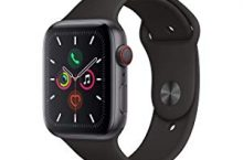 Hot New Apple Watch Deals $499.00 Apple Watch Series 5 (GPS + Cellular, 44mm) – Space Gray Aluminum Case with Black Sport Band