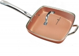 Hot New As Seen On TV Products As Seen On TV 12″ Chef Diamond Copper King Pan with Lid – Aluminum $39.99,