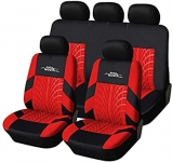 Hot Deals in Automotive Parts and Accessories $29.99 AUTOYOUTH Car Seat Covers Universal Fit Full Set Car Seat Protectors Tire Tracks Car Seat Accessories – 9PCS, Black/Red