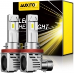 Hot Deals in Automotive Parts and Accessories $31.99 AUXITO H11 H8 H9 LED Headlight Bulbs 12000lm Per Set 6500K Cool White Wireless Headlight LED Bulb, Pack of 2