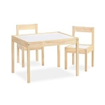 Hot New Baby Nursery Furniture Deals $54.64 Baby Relax DA7501N Hunter 3-Piece Kiddy Table & Chair, Natural/White Table Set