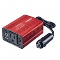Hot Deals in Automotive Parts and Accessories $13.59 Bapdas 150W Car Power Inverter DC 12V to 110V AC Car Converter with 3.1A Dual USB Car Adapter-Red