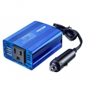 Hot Deals in Automotive Parts and Accessories $13.58 Bapdas 150W Car Power Inverter DC 12V to 110V AC Car Converter with 3.1A Dual USB Car Adapter-Blue