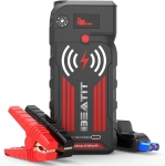 Hot Deals in Automotive Parts and Accessories $76.49 BEATIT G18 2000Amp Peak 12V Portable Jump Starter (Up to 8.0L Gas and Diesel Engine) 21000mAh Power Bank With Wireless Charger Smart Jumper Cables