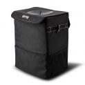 Hot Deals in Automotive Parts and Accessories $12.74 BOLTLINK Car Trash Can with Lid, Car Trash Bag Hanging for Headrest with Strap,100% Leak-Proof Vinyl Inside Lining, Great Portable Container and Garbage Can for Vehicle -Black