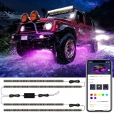 Hot Deals in Automotive Parts and Accessories $28.04 Car Underglow LED Lights, Govee Exterior Car Lights with Ultra Long 2-in-1 Design (2 x 47 inch + 2 x 35 inch), App Control Under LED lights for Car with 16 Million Colors, Sync to Music, DC 12-24V
