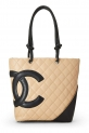 Hot New Chanel Handbag Deals $2,450.00 CHANEL Beige Quilted Calfskin Cambon Ligne Tote Small (Pre-Owned)