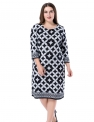 Plus Size Work Dresses for Women Hot Office DressesChicwe Women's Plus Size Cashmere Touch Printed Shift Dress – Knee Length Work and Casual Dress $20.99,