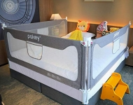 Hot New Baby Nursery Furniture Deals $169.99 Goldenvalueable Bed Rail Guard 3 Set Vertical Collapsible for Baby Toddlers and Kids (Grey, Queen)