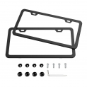 Hot Deals in Automotive Parts and Accessories $8.32 Karoad Black License Plate Frames, 2 PCS Stainless Steel Car Licence Plate Covers Slim Design with Bolts Washer Caps for US Standard