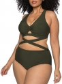 Hot New Plus Size Swimwear $20.88, Kisscynest Women's Plus Size Swimwear 2 Piece High Waisted Swimsuit Bathing Suit,