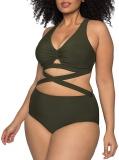 Hot New Plus Size Swimwear $20.88, Kisscynest Women's Plus Size Swimwear 2 Piece High Waisted Swimsuit Bathing Suit,