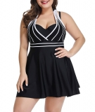 Hot New Plus Size Swimwear $28.99, LALAGEN Womens Halter Swimdress Plus Size Two Piece Swimsuit Tankini Set,