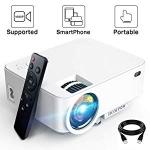 Hot New Mini Projector Deals $69.98 Mini Projector – 2800Lux Hompow Smartphone Portable Video Projector 1080P Supported 176″ Display, 50,000 Hours Led, Compatible with TV Stick/HDMI/VGA/USB/TV Box/Laptop/DVD/PS4 for Home Entertainment