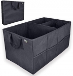 Hot Deals in Automotive Parts and Accessories $13.59 MIU COLOR Car Trunk Storage Organizer Collapsible Cargo Storage Containers Portable Multi Compartments for Car, Truck, SUV; Strap Handle