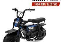 Hot New Electric Bicycle Monster Moto MM-E1000-BB Electric Mini Bike, Assembled in the USA (1000Watt, Blue/Black)