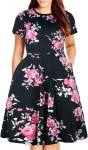 Plus Size Work Dresses for Women Hot Office DressesNemidor Women's Round Neck Summer Casual Plus Size Fit and Flare Midi Dress with Pocket $22.99,