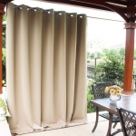 Hot New Outdoor Living Products $64.95 NICETOWN Patio Door Outdoor Curtain – Thermal Insulated Room Darkening Extra Wide Drape for Living Room, Hall Room, Guest Room and Villa (Biscotti Beige, 1 Pack, 100 inches Wide by 84 inches Long)
