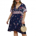 Hot Plus Size Dresses $19.99, PARTY LADY Women's Summer Casual Beach Party Dresses Short Sleeve Swing Dress Plus Size,