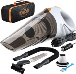 Hot Deals in Automotive Parts and Accessories $29.74 Portable Car Vacuum Cleaner: High Power Corded Handheld Vacuum w/ 16 Foot Cable – 12V – Best Car & Auto Accessories Kit for Detailing and Cleaning Car Interior