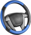 Hot Deals in Automotive Parts and Accessories $16.14 SEG Direct Car Steering Wheel Cover Small-Size for Prius Civic Model 3 Camaro Spark Rogue Mini Smart Audi with 14 inches-14 1/4 inches Outer Diameter, Blue Mirofiber Leather