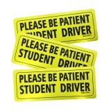 Hot Deals in Automotive Parts and Accessories $7.99 Set of 3 Please Be Patient Student Driver Safety Sign Vehicle Bumper Magnet – Reflective Vehicle Car Sign Sticker Bumper Drivers