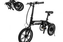 Hot New Electric Bicycle SwagCycle EB-5 Pro Lightweight and Aluminum Folding EBike with Pedals, Power Assist, and 36V Lithium Ion Battery; Electric Bike with 14 inch Wheels and 250W Hub Motor