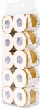 Toilet paper $31.88, Tenflyer 10 Rolls Toilet Paper 3-ply Bath Tissue Bathroom White Soft for Home Hotel Public,