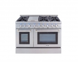 Hot New Range Deals $4,699.00 Thor Kitchen Gas Range with 6 Burners and Double Ovens, Stainless Steel – HRG4808U-1