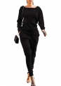 Curvy Outfits for Women VNVNE Womens Fall Rib-Knit Pullover Sweater Top & Long Pants Set 2 Piece Outfits Tracksuit $27.99,