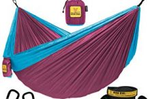 Hot New Online Offers  $26.95 Wise Owl Outfitters Hammock Camping Double & Single with Tree Straps – USA Based Hammocks Brand Gear, Indoor Outdoor Backpacking Survival & Travel, Portable