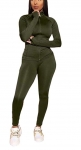 Curvy Outfits for Women Womens Tracksuit Set – Two Piece Outfits Zip Up Crop Top + Skinny Long Pants Sweatsuits Jogging Suits Jumpsuits $19.99,
