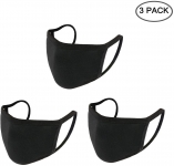 Mask n95 reusable $0, Yoodelife Cotton Mouth Mask Anti Dust Mouth Mask, Unisex Face Mask Reusable Fashion Mask Anime Face Mask Washable Mask Reusable Mask for Cycling Camping Travel for Adults, Black – 3 Pack,