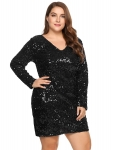 Hot Plus Size Dresses $47.99, Zeagoo Women's Plus Size Glitter Bodycon Sequin Cocktail Party Club Evening Mini Dress(16~24W),